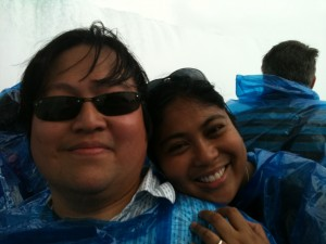 Hubby & Me on Maid of the Mist